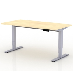 """Sit-to-Stand Height Adjustable Desk - 72""""W x 30""""D, 14137"""