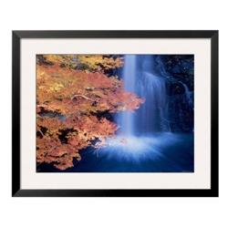 "33""W x 27""H Waterfall Autumn Leaves Print, 85717"