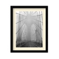 Foggy Day on Brooklyn Bridge by Henri Silberman- Framed Photography Print, 87615