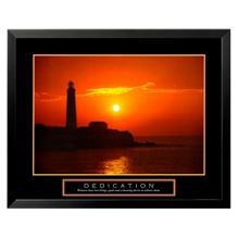 Dedication Motivational Print - Lighthouse, 91849