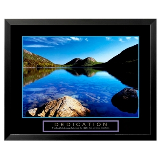 Dedication Motivational Print - Pond, 91852