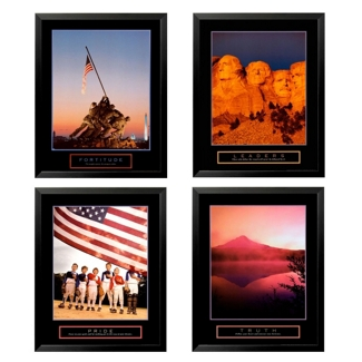 Set of Four Framed Motivational Prints, 92020