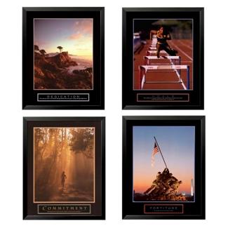 Set of Four Framed Motivational Prints, 92021