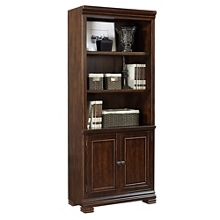 """Five Shelf Bookcase with Doors - 75.5""""H, 32149"""