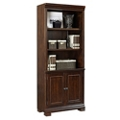 "Five Shelf Bookcase with Doors - 75.5""H, 32149"