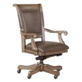 Bonded Leather Office Chair with Nailhead Trim, 55108
