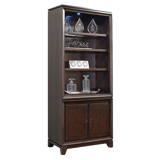 "Four Shelf Bookcase with Lower Doors - 84""H, 32209"