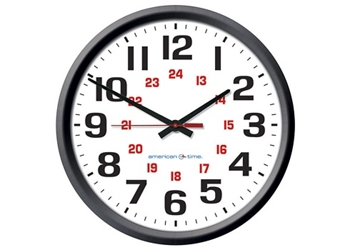 """Automatic Adjustment Wall Clock with Battery Booster - 12"""", 92110"""