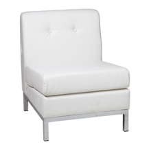 Armless Faux Leather Guest Chair, 75194