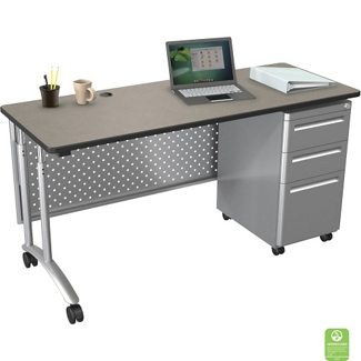 "Adjustable Computer Desk - 60""W x 24""D, 11358"