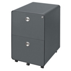 "23""D Two Drawer Mobile File, 34939"