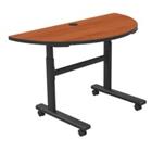 Half Moon Adjustable Height Mobile Flipper Table, 41609