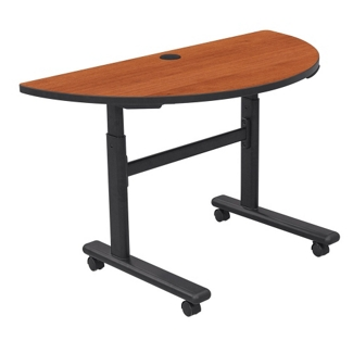Half Moon Adjustable Height Mobile Flipper Table, 41609