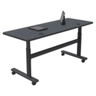 "Adjustable Height 60"" x 24"" Mobile Flipper Table, 41610"