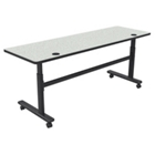 "Adjustable Height 72"" x 24"" Mobile Flipper Table, 41611"