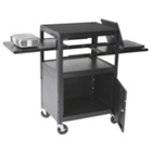 AV Cart with Cabinet and Dual Sliding Shelves, 43140