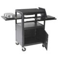 AV Cart with Cabinet and Dual Sliding Shelves, 43140