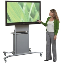 Mobile TV Cart with Cabinet, 43174