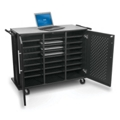 "Mobile Charging 24 Slot Laptop Tablet Cart - 40""H, 43393"