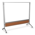 6 ft x 4 ft Glass Mobile Dry Erase Board, 80342