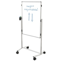 Melamine Adjustable Height Dual Sided White Board, 80347