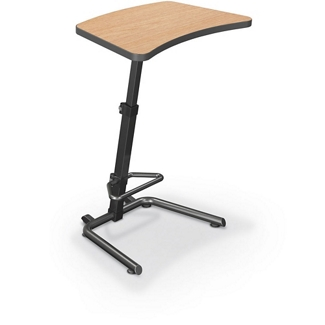 "Height Adjustable Desk with Footrest - 26.5""W x 20""D , 13797"
