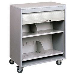 "Locking Mobile Medical File Cart - 26""W, 26107"