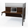 "Double Add-On Station with Three 55.5""H Acrylic Privacy Panels, 91707"