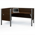 "Left L-Desk with Four 43""H Privacy Panels, 13210"