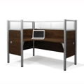 "Left L Desk with Four 55.5""H Acrylic Privacy Panels, 13211"