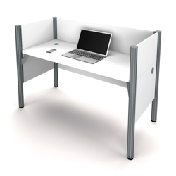 """Single Workstation with Three 43""""H Privacy Panels, 13233"""