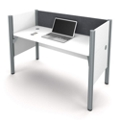 "Single Workstation with 43""H Tack Board Panel, 14456"