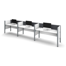 """Triple Workstation with 43""""H Tack Board Panels, 14458"""