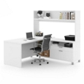 "L-Desk with Open Hutch - 71""W, 14518"
