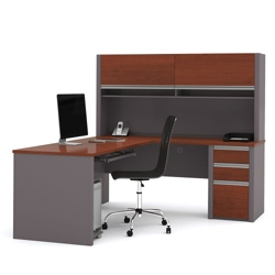 L Desk with Hutch, 13412