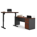 "Reversible L-Desk with Adjustable Height Return - 71.125""W, 14782"