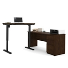 "Reversible L-Desk with Adjustable Height Return - 71.125""W, CD08790"