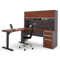"Reversible L-Desk with Adjustable Height Return - 71.125""W, 14791"