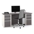 Bowfront Computer Desk, 15980