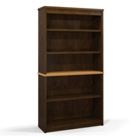 "65.9""H Five Shelf Two-Tone Bookcase, CD09627"