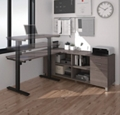 "Adjustable Height L-Desk - 71""W, 14496"