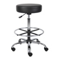 Backless Medical Vinyl  Stool with Foot Ring, 25132