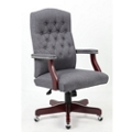 Button-Tufted Fabric Executive Chair, 55611