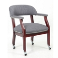 Fabric Captain's Chair with Casters, 55613