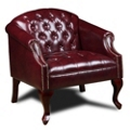 Traditional Vinyl Club Chair, 75576