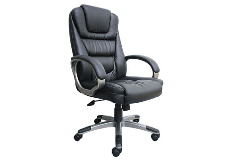 High Back Bonded Leather Executive Chair with Knee Tilt, 55607