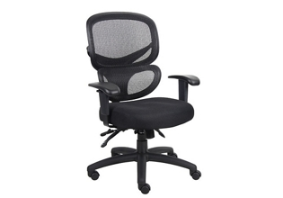 Mesh and Fabric High Back Ergonomic Chair, 57094
