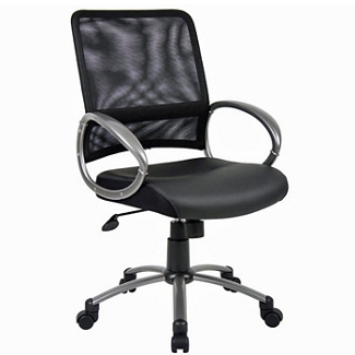 Bonded Leather Seat and Mesh Back Computer Chair, 56966