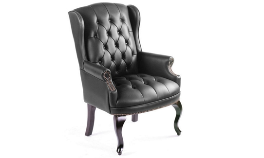 Traditional Wing-Back Guest Chair, 50758S