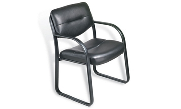 Sled Base Bonded Leather Guest Chair, 50763